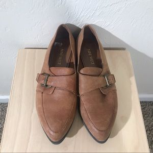 Nine West Cognac Leather Norella Loafers Size 7M
